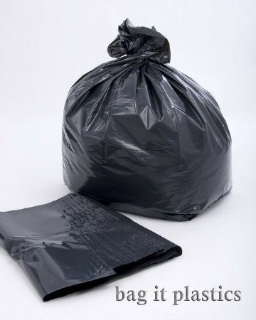 BLACK SACKS LARGE HEAVY DUTY EXTRA STRONG REFUSE RUBBISH - 180 GAUGE 45 MICRON